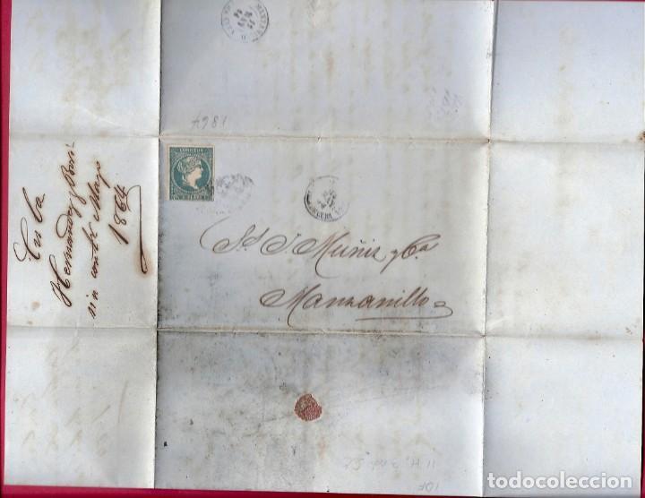 CUBA. AÑO 1864. CARTA . (Sellos - España - Colonias Españolas y Dependencias - América - Cuba)