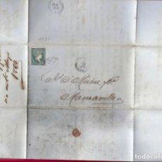 Sellos: CUBA. AÑO 1864. CARTA .. Lote 222160831