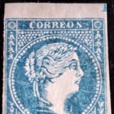 Sellos: CUBA. (CAT. ANT. 7/GRAUS 1447-I). * 1/2 R. FALSO POSTAL TIPO I. BORDE DE HOJA SUPERIOR. MAGNÍFICO.. Lote 223329511