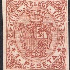 Sellos: 1874 TELÉGRAFOS CUBA EDIFIL 28 SIN DENTAR. Lote 224781913
