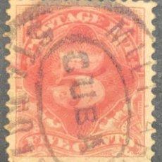 Sellos: O) 1884 CUBA, ANTILLAS ESPAÑOLAS OCUPACIÓN ESTADOS UNIDOS, FRANQUEO DEBIDO SELLO, SCT 5C MARRÓN ROJI. Lote 227646685