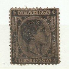 Sellos: SO18-SELLO CUBA 116,00€ ULTRAMAR ANTILLAS COLONIA ESPAÑA AÑO 1878 Nº 45 10 CENTIMOS USADO.. Lote 228045785
