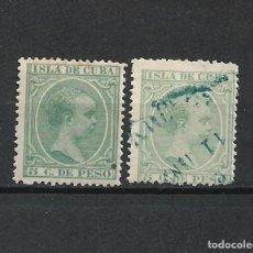 Sellos: ESPAÑA CUBA 1891-1892 EDIFIL 127 NUEVO* Y USADO - 2/6. Lote 228105790