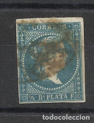 ISABEL II ANTILLAS 1857 EDIFIL 7 USADO VALOR 2018 CATALOGO 1.10 EUROS (Sellos - España - Colonias Españolas y Dependencias - América - Antillas)