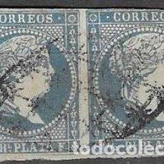 Sellos: SELLOS USADOS DE ANTILLAS ESPAÑOLA 1857, EDIFIL 7, FOTO ORIGINAL. Lote 233690275