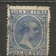Sellos: CUBA EDIFIL NUM. 129 USADO --TIENE UNA TRANSPARENCIA GRANDE--. Lote 235481330