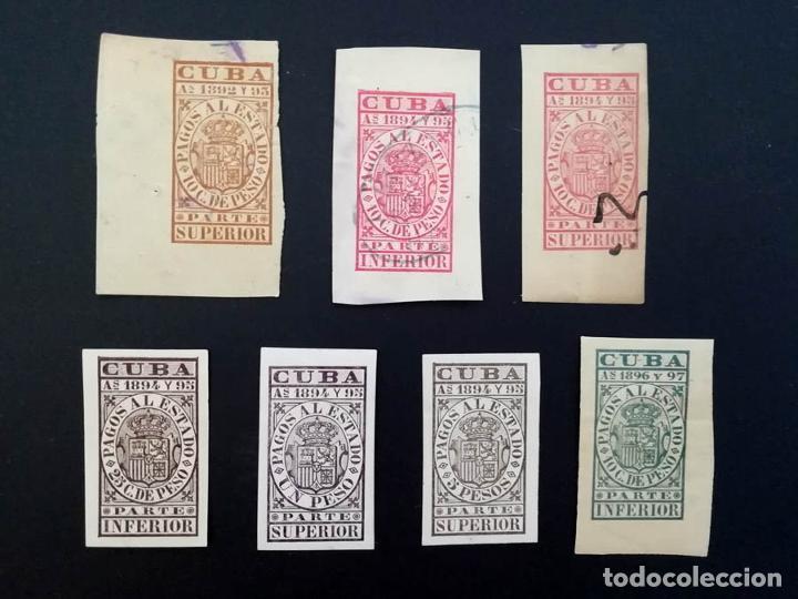 1894 A 1897, CUBA, 7 SELLOS FISCALES, PAGOS AL ESTADO (Sellos - España - Colonias Españolas y Dependencias - América - Cuba)