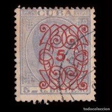 Sellos: 1883.ALFONSO XII.HABILITADO.5C.S 5C.USADO.EDIFIL.80. Lote 240915930