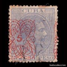 Sellos: CUBA 1883.ALFONSO XII.HABILITADO.5C.S 5C.USADO .EDIFIL.83. Lote 240920290