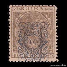 Sellos: CUBA.1883. ALFONSO XII.HABILITADO.10CT S 10CT.MH .EDIFIL.78. Lote 240925765