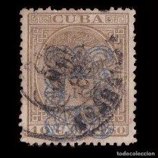 Sellos: CUBA.1883.ALFONSO XII.HABILITADO.10CT S 10CT.USADO.EDIFIL.75. Lote 240930550