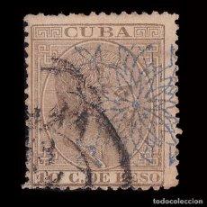 Sellos: CUBA.1883. ALFONSO XII.HABILITADO.10CT.USADO.EDIFIL.87. Lote 240931315