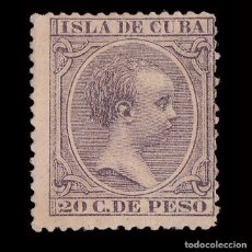 Sellos: CUBA 1890.ALFONSO XIII.20CT.MNG.MARQUILLA.EDIFIL.117. Lote 240935395