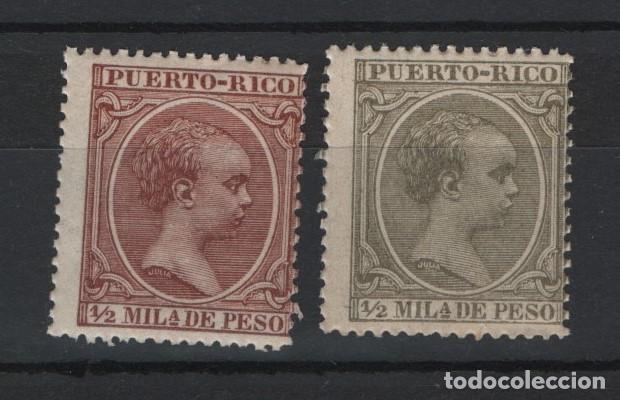 .G-SUB_10/ PUERTO RICO. ALFONSO XIII (EL PELON) EDIFIL 86 Y 102 NUEVOS** S/F (Sellos - España - Colonias Españolas y Dependencias - América - Puerto Rico)