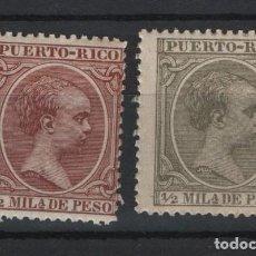 Sellos: .G-SUB_10/ PUERTO RICO. ALFONSO XIII (EL PELON) EDIFIL 86 Y 102 NUEVOS** S/F. Lote 240973025