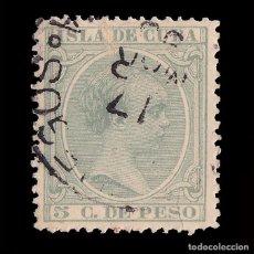 Sellos: CUBA.1891-92. ALFONSO XIII.5CT.MATASELLO CIENFUEGOS.EDIFIL.127. Lote 241024120