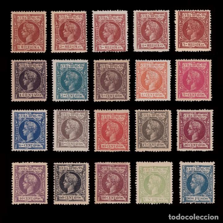 CUBA.1898.ALFONSO XIII.SERIE .MNH-MH.EDIFIL.154-173 (Sellos - España - Colonias Españolas y Dependencias - América - Cuba)