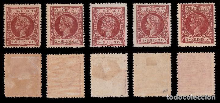 Sellos: CUBA.1898.Alfonso XIII.Serie .MNH-MH.Edifil.154-173 - Foto 2 - 241479530