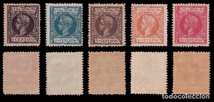Sellos: CUBA.1898.Alfonso XIII.Serie .MNH-MH.Edifil.154-173 - Foto 3 - 241479530
