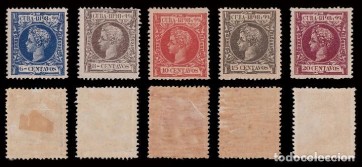 Sellos: CUBA.1898.Alfonso XIII.Serie .MNH-MH.Edifil.154-173 - Foto 4 - 241479530