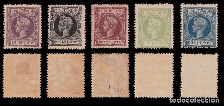 Sellos: CUBA.1898.Alfonso XIII.Serie .MNH-MH.Edifil.154-173 - Foto 5 - 241479530