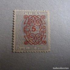 Sellos: CUBA 1883, EDIFIL Nº 80 SELLO HABILITADO, SIN GOMA. Lote 243187560