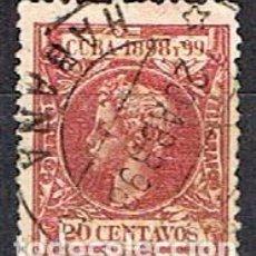 Sellos: CUBA (COLONIA ESPAÑOLA) EDIFIL Nº 168, ALFONSO XIII, USADO. Lote 245441355