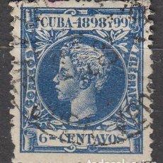 Sellos: CUBA (COLONIA ESPAÑOLA) EDIFIL Nº 164, ALFONSO XIII, USADO. Lote 245441480