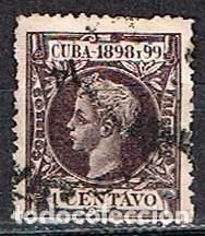 CUBA (COLONIA ESPAÑOLA) EDIFIL Nº 159, ALFONSO XIII, USADO (Sellos - España - Colonias Españolas y Dependencias - América - Cuba)