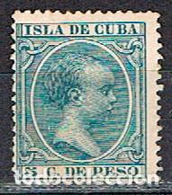 CUBA (COLONIA ESPAÑOLA) EDIFIL Nº 149, ALFONSO XIII, NUEVO CON SEÑAL DE CHARNELA (Sellos - España - Colonias Españolas y Dependencias - América - Cuba)