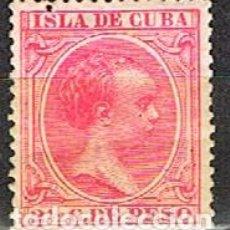 Sellos: CUBA (COLONIA ESPAÑOLA) EDIFIL Nº 148, ALFONSO XIII, NUEVO CON SEÑAL DE CHARNELA. Lote 245444955