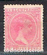 CUBA (COLONIA ESPAÑOLA) EDIFIL Nº 133, ALFONSO XIII, SIN MATASELLAR (Sellos - España - Colonias Españolas y Dependencias - América - Cuba)