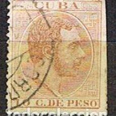 Sellos: CUBA (COLONIA ESPAÑOLA) EDIFIL Nº 72, ALFONSO XII, USADO. Lote 245458280