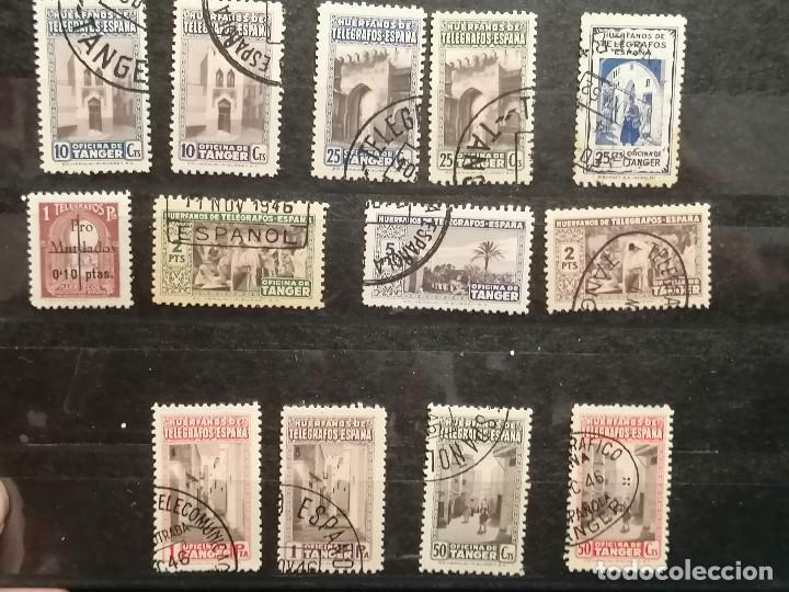 Sellos: España Tanger lote sellos Tanger Telegrafos usados - Foto 2 - 248643370