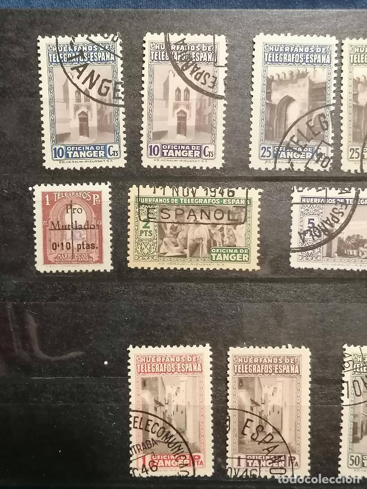 Sellos: España Tanger lote sellos Tanger Telegrafos usados - Foto 3 - 248643370