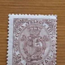 Sellos: CUBA, 1874, TELEGRAFOS, ESCUDO DE ESPAÑA, EDIFIL 30, NUEVO CON FIJASELLOS. Lote 248702880