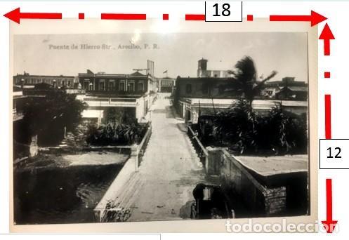 """CALLE DEL """"PUENTE DE HIERRO"""" ARECIBO PUERTO RICO 1920 (Sellos - España - Colonias Españolas y Dependencias - América - Puerto Rico)"""