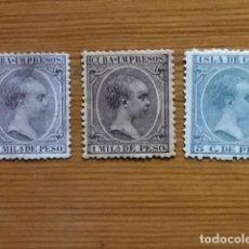Sellos: CUBA, 1891-92, ALFONSO XIII, EDIFIL 118,119 Y 127. Lote 251276630