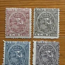 Sellos: CUBA, 1898 Y 99, 2, 4, 5, Y 15 CENTIMOS, NUEVOS **. Lote 251277245