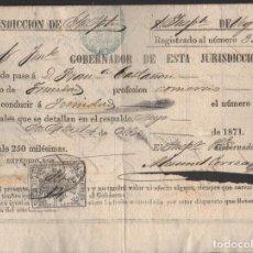 Sellos: CUBA FISCALES 1871 DOCUMENTOS DE LA POLICIA 62C./ 1873-1879 (2) RECIBOS.Y CUENTAS 1.25C.. Lote 252436705