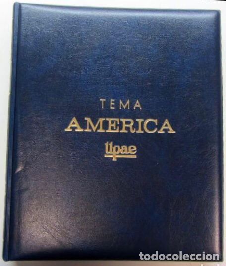 ÁLBUM DE SELLOS. TEMA AMÉRICA. UNIÓN POSTAL DE LAS AMÉRICAS Y ESPAÑA. COMPLETO. (Sellos - España - Colonias Españolas y Dependencias - América - Otros)