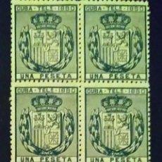 Selos: CUBA. TELÉGRAFOS. AÑO 1880. BLOQUE DE 4. Lote 260445255