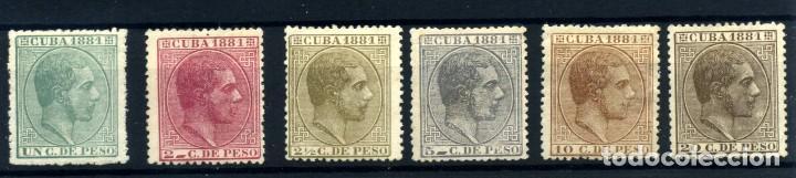 CUBA Nº 62/67. AÑO 1881 (Sellos - España - Colonias Españolas y Dependencias - América - Cuba)