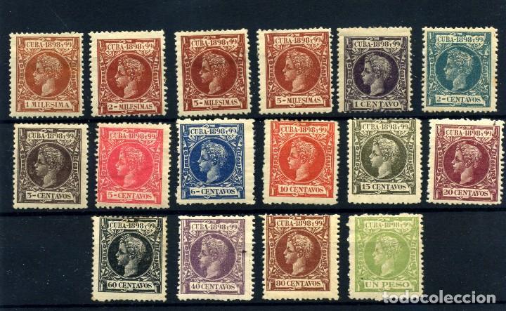 CUBA Nº 154/5, 158/61, 163/4, 167/72. AÑO 1898 (Sellos - España - Colonias Españolas y Dependencias - América - Cuba)