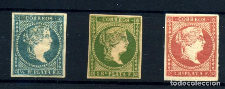 ANTILLAS ESPAÑOLA Nº 7/9. AÑO 1857 (Sellos - España - Colonias Españolas y Dependencias - América - Antillas)