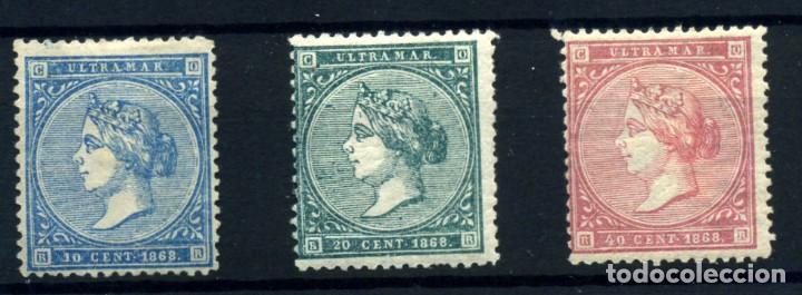 ANTILLAS ESPAÑOLA Nº 13/15. AÑO 1868 (Sellos - España - Colonias Españolas y Dependencias - América - Antillas)
