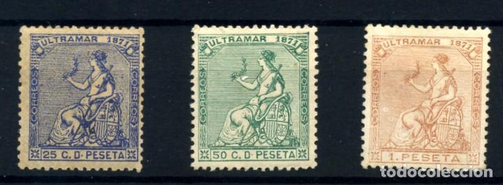 ANTILLAS ESPAÑOLA Nº 22/24. AÑO 1871 (Sellos - España - Colonias Españolas y Dependencias - América - Antillas)