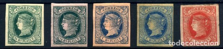 ANTILLAS ESPAÑOLA Nº 10/12. AÑO 1864 (Sellos - España - Colonias Españolas y Dependencias - América - Antillas)