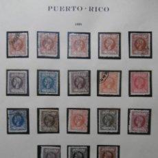 Sellos: ESPAÑA - PRIMER CENTENARIO - COLONIAS - ALFONSO XIII - PUERTO RICO 1898 EDIFIL 130/149.. Lote 263303475