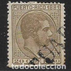 Sellos: PUERTO RICO, 1881.. 20 CTS, ED. Nº 54,VER FOTO. Lote 264146568